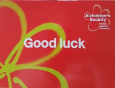 A kind wish of good luck from Alzheimer's Society